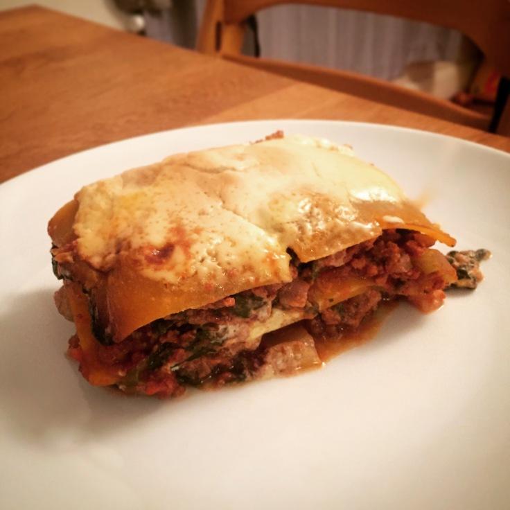 Low carb butternut squash lasagna
