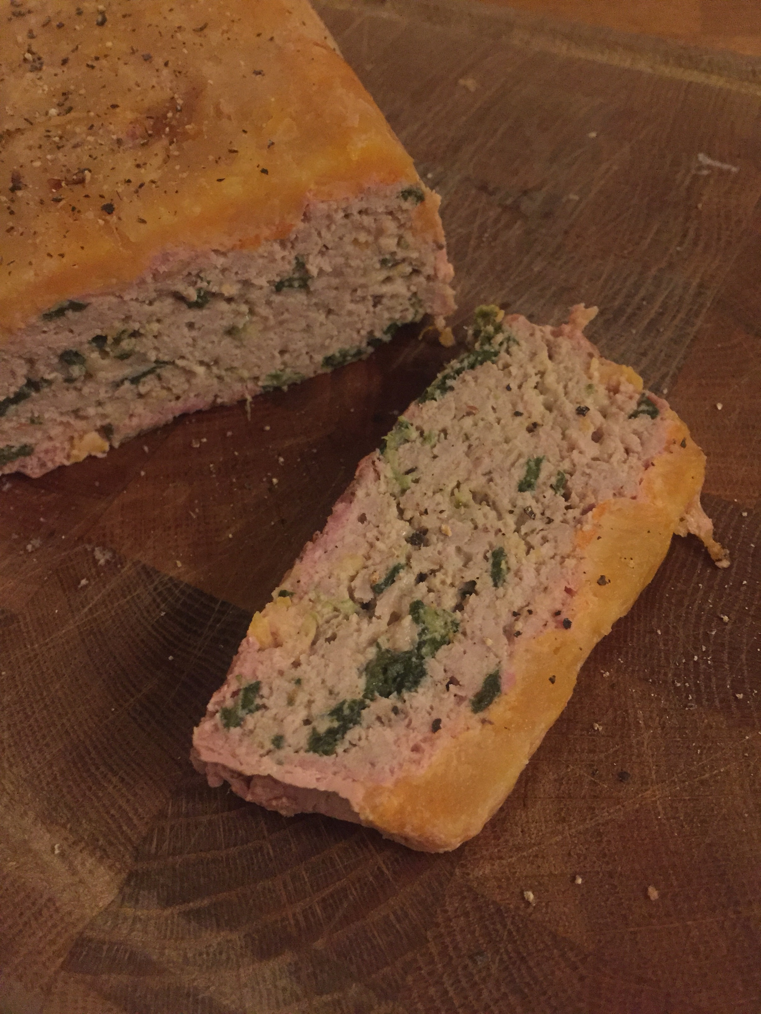 low-carb keto pumpkin turkey meatloaf