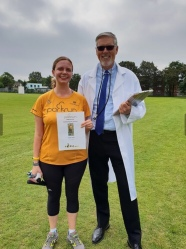 Earning my 50th parkrun certificate at walthamstow parkrun